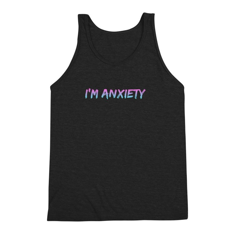 I'M ANXIETY (TRAN) Men's Triblend Tank by uppercaseCHASE1