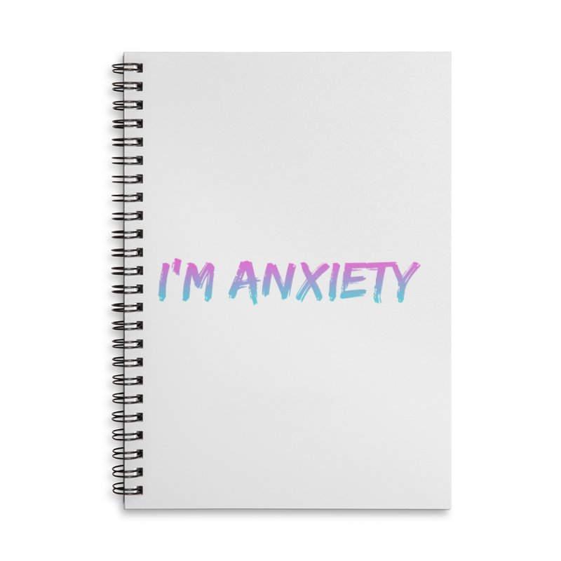 I'M ANXIETY (TRAN) Accessories Lined Spiral Notebook by uppercaseCHASE1