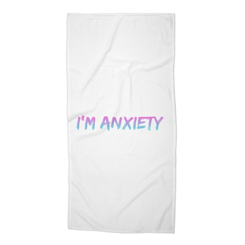 I'M ANXIETY (TRAN) Accessories Beach Towel by uppercaseCHASE1
