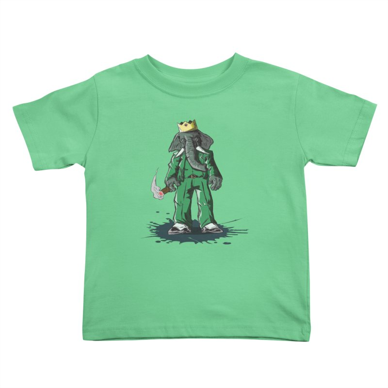 Elephant King Kids Toddler T-Shirt by Uppercut Justice