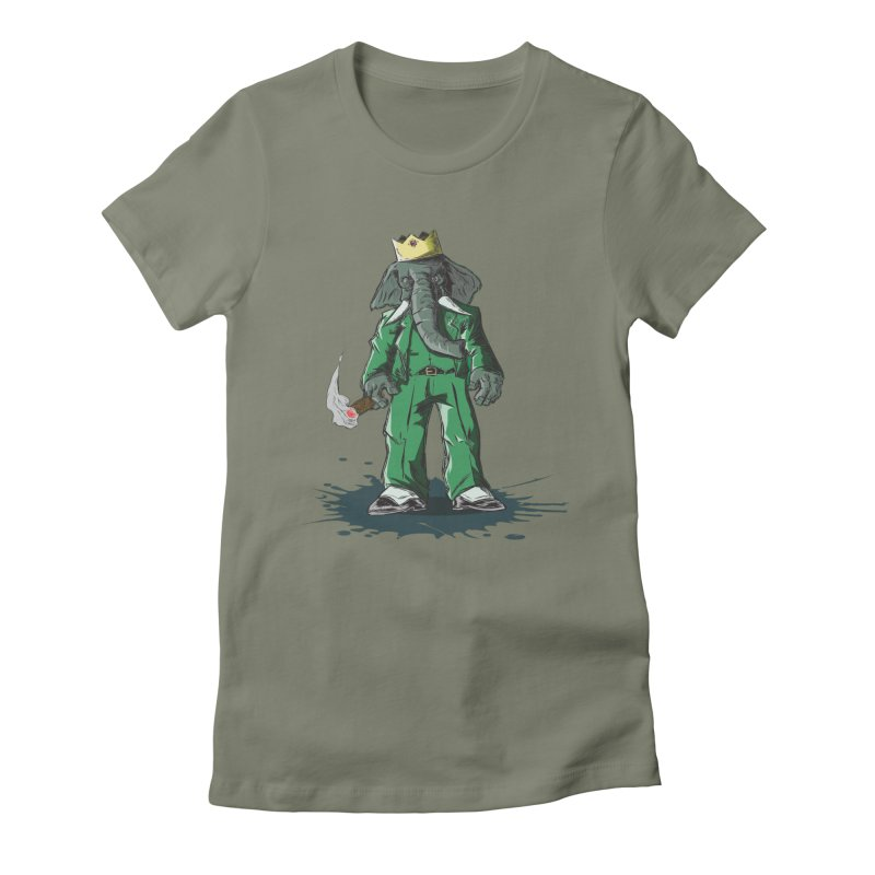 Elephant King Women's Fitted T-Shirt by Uppercut Justice