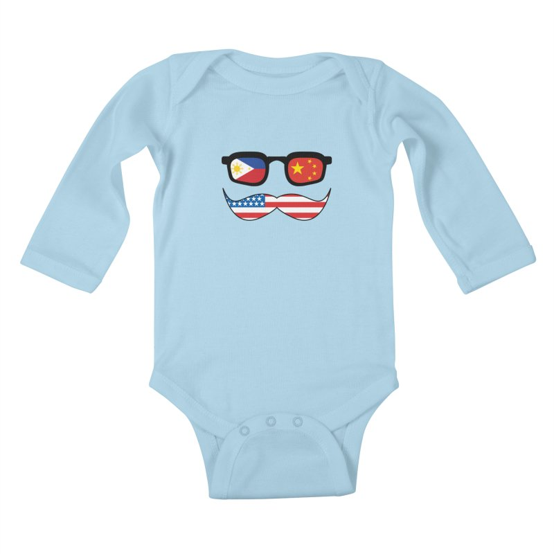 Chinoy Pride Kids Baby Longsleeve Bodysuit by Uppercut Justice