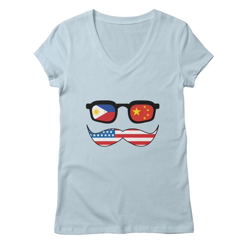 Chinoy Pride Women's V-Neck by Uppercut Justice