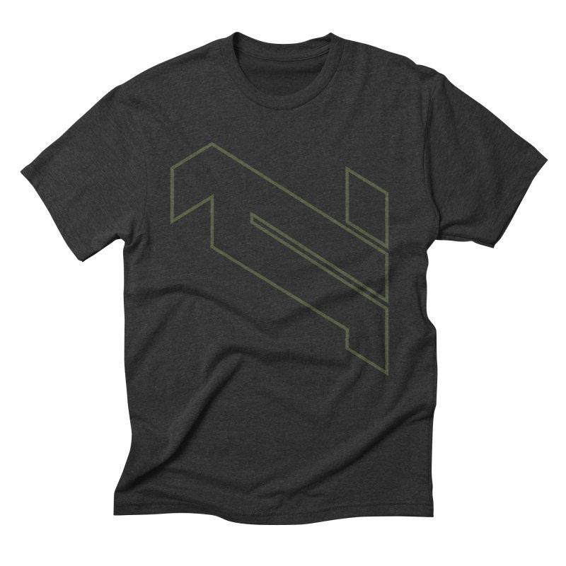 AKWIUS Hieroglyph I in Men's Triblend T-Shirt Heather Onyx by Upper Realm Shop