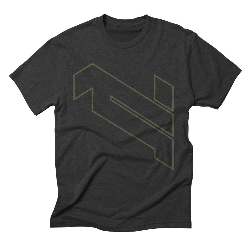AKWIUS Hieroglyph I in Men's Triblend T-Shirt Heather Onyx by Upper Realm Shop