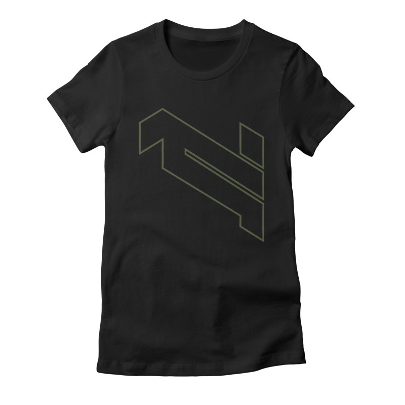 AKWIUS Hieroglyph I Women's Fitted T-Shirt by Upper Realm Shop