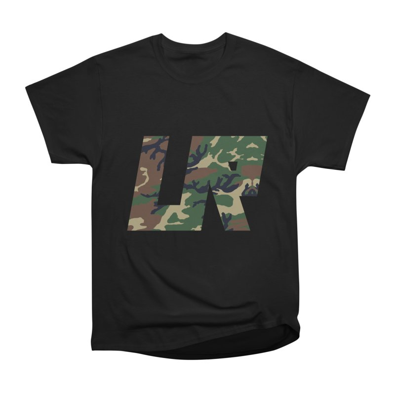 Upper Realm Camo in Men's Heavyweight T-Shirt Black by Upper Realm Shop