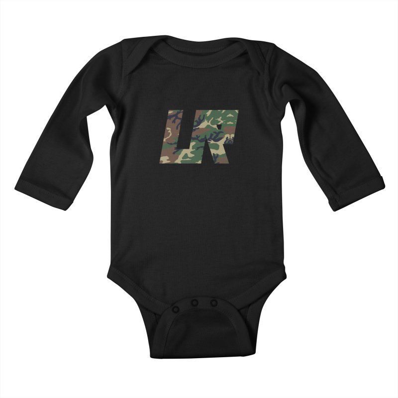 Upper Realm Camo Kids Baby Longsleeve Bodysuit by Upper Realm Shop