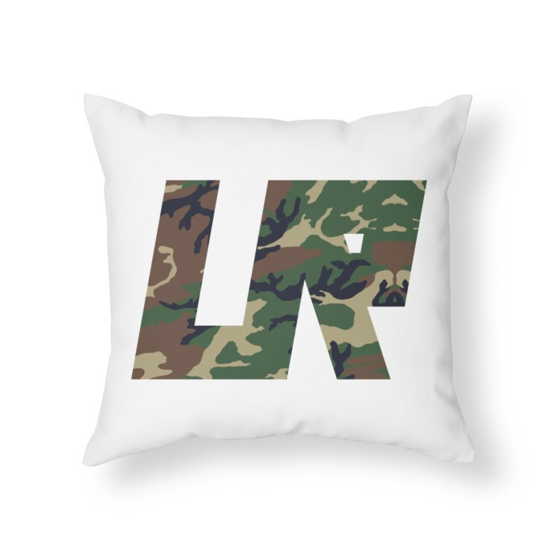 Upper Realm Camo Home Throw Pillow by Upper Realm Shop