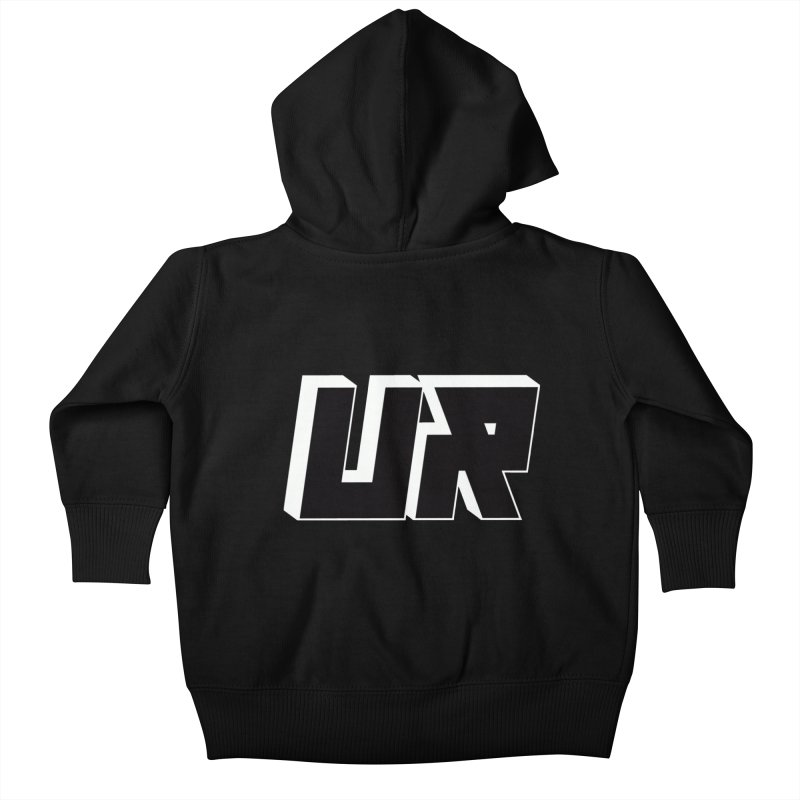 Upper Realm Black Kids Baby Zip-Up Hoody by Upper Realm Shop