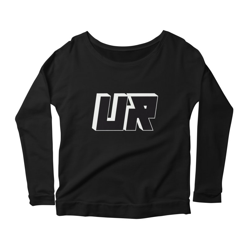 Upper Realm Black Women's Scoop Neck Longsleeve T-Shirt by Upper Realm Shop