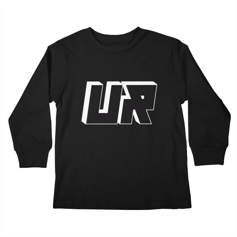 Upper Realm Black Kids Longsleeve T-Shirt by Upper Realm Shop