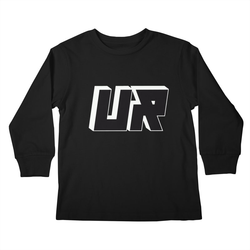 Upper Realm Black Kids Longsleeve T-Shirt by Upper Realm Shop