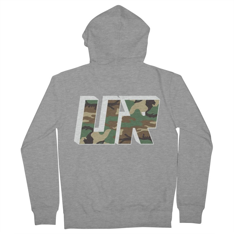 Upper Realm Camo Women's French Terry Zip-Up Hoody by Upper Realm Shop