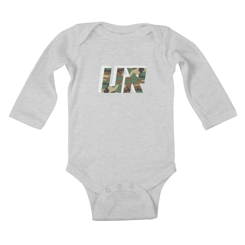 Upper Realm Camo Kids Baby Longsleeve Bodysuit by Upper Realm Shop