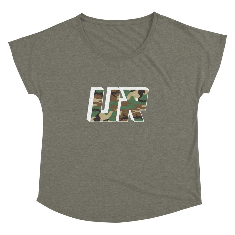 Upper Realm Camo Women's Dolman Scoop Neck by Upper Realm Shop