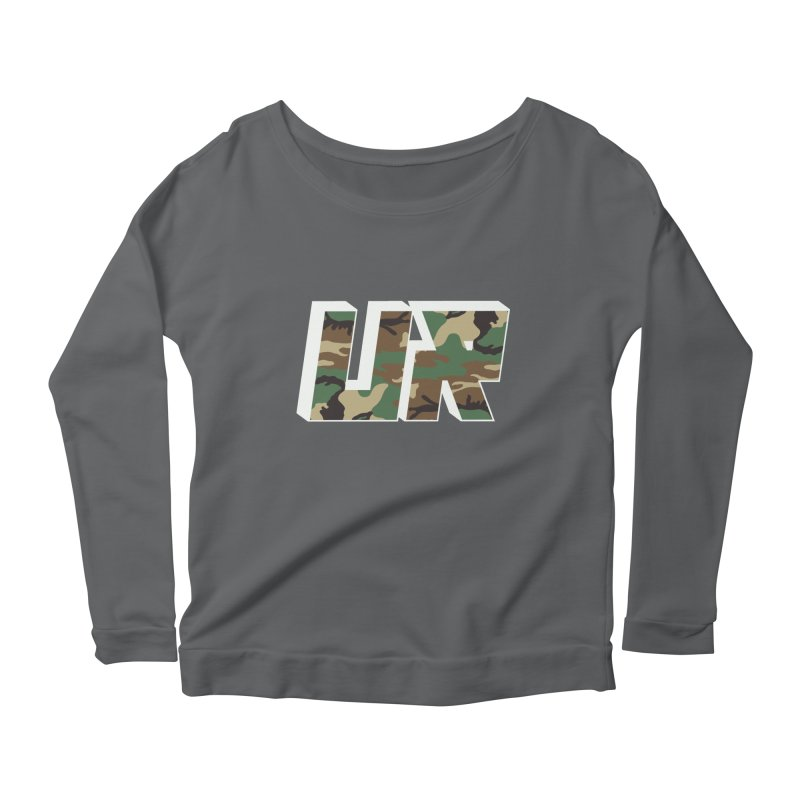 Upper Realm Camo Women's Scoop Neck Longsleeve T-Shirt by Upper Realm Shop