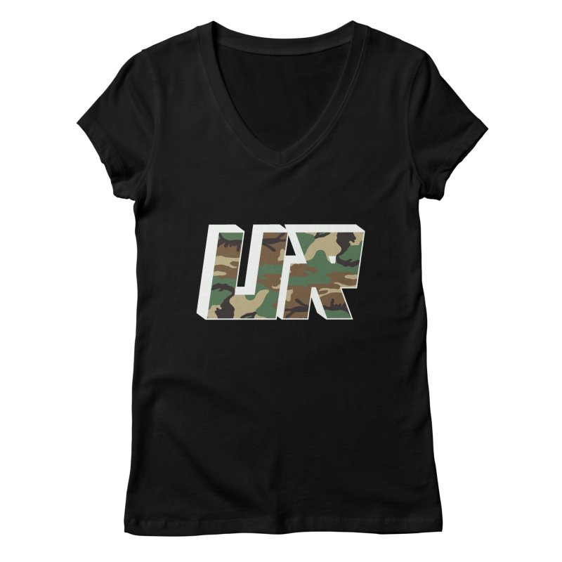 Upper Realm Camo Women's Regular V-Neck by Upper Realm Shop
