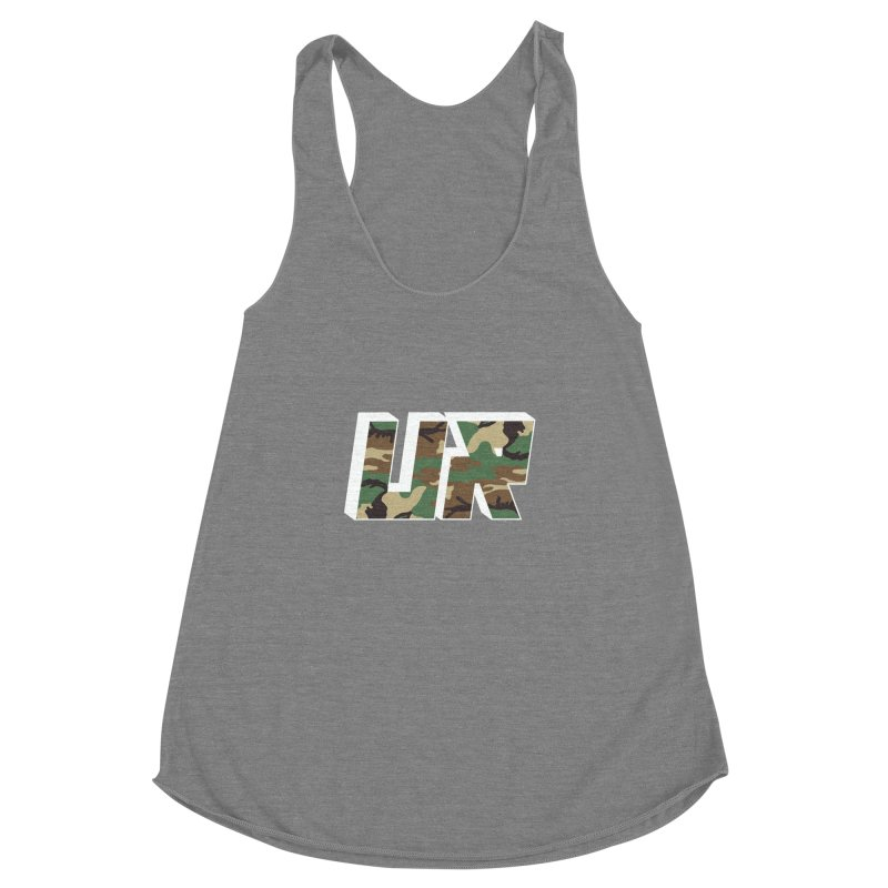 Upper Realm Camo Women's Racerback Triblend Tank by Upper Realm Shop