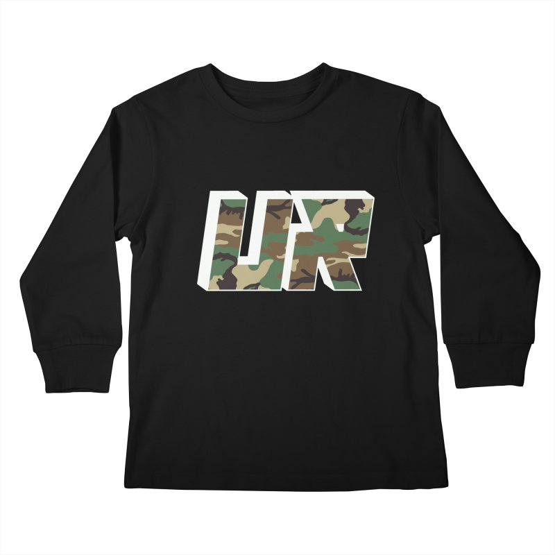 Upper Realm Camo Kids Longsleeve T-Shirt by Upper Realm Shop