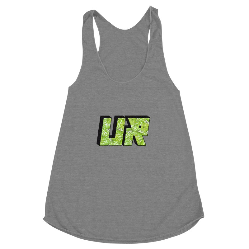 Upper Realm Tropical Women's Racerback Triblend Tank by Upper Realm Shop