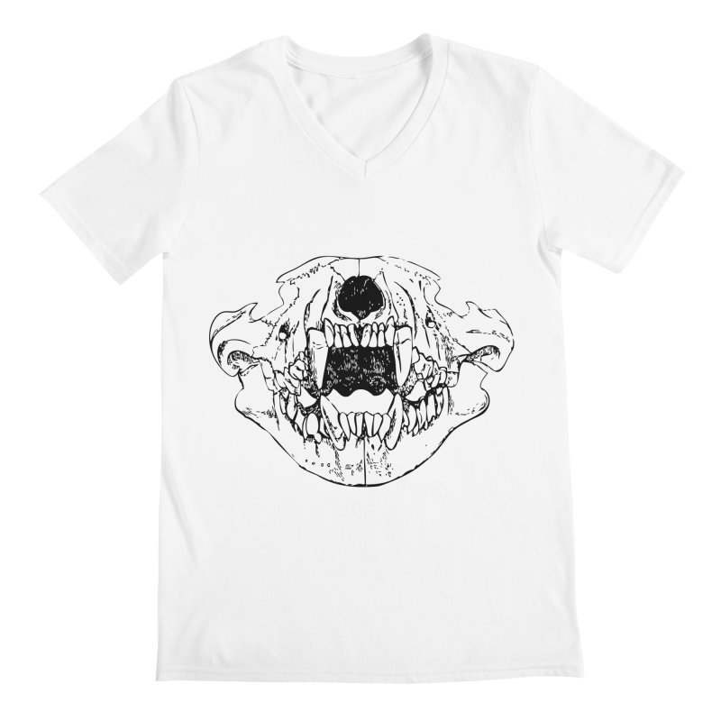 Bear Jaw Men's Regular V-Neck by Upper Realm Shop