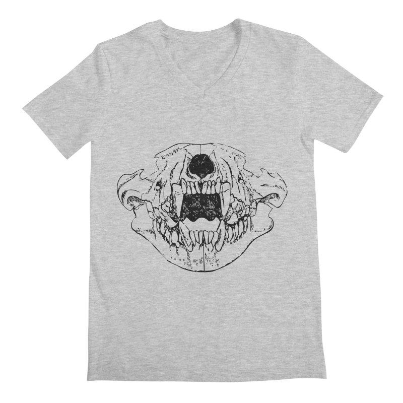 Bear Jaw Men's Regular V-Neck by Upper Realm Shop