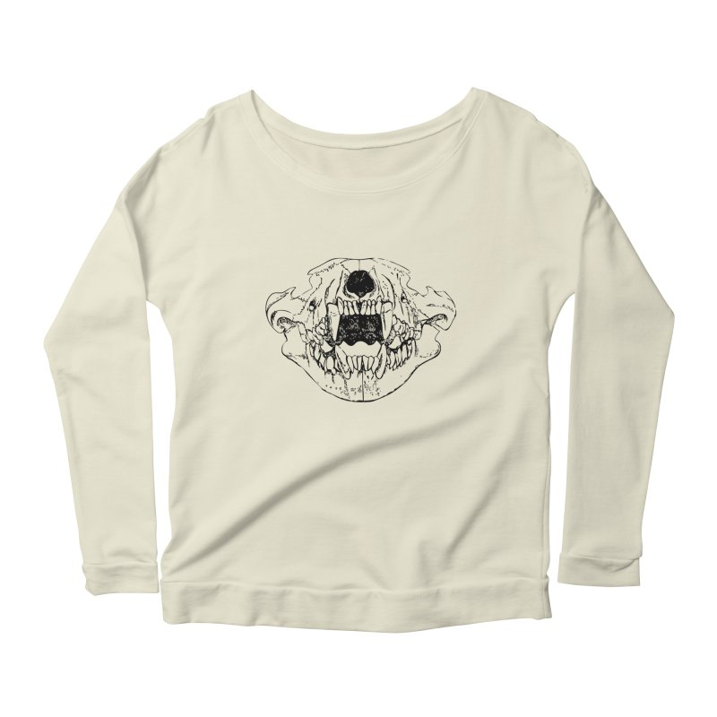 Bear Jaw Women's Scoop Neck Longsleeve T-Shirt by Upper Realm Shop