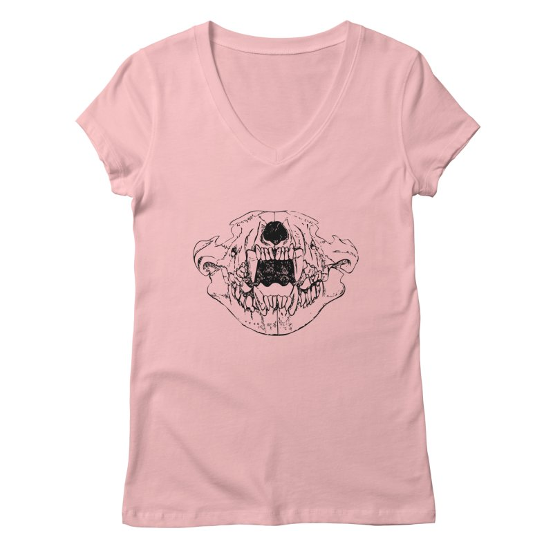 Bear Jaw Women's Regular V-Neck by Upper Realm Shop