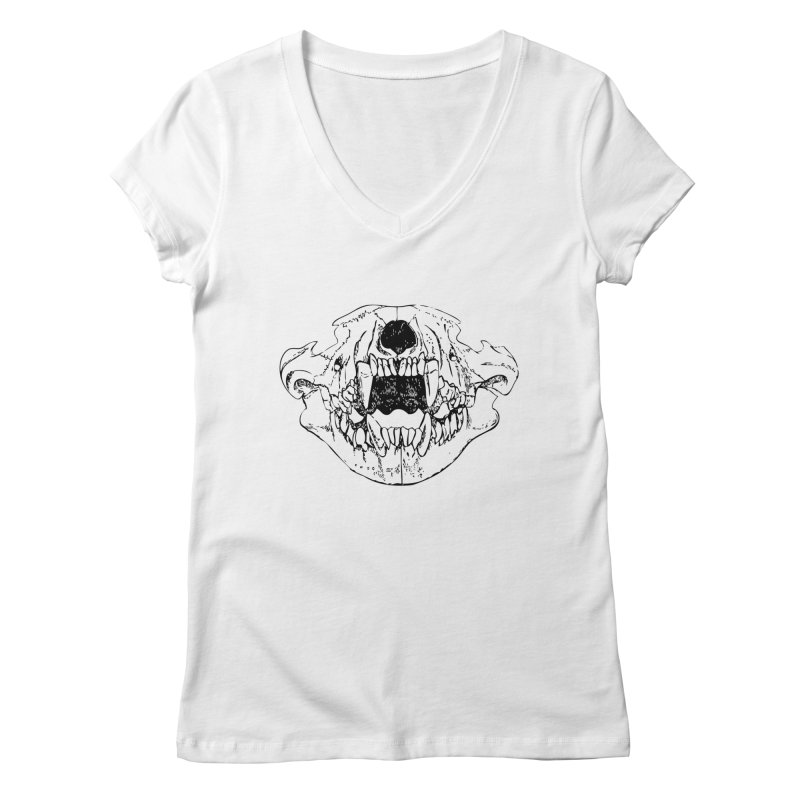 Bear Jaw Women's Regular V-Neck by Upper Realm Shop