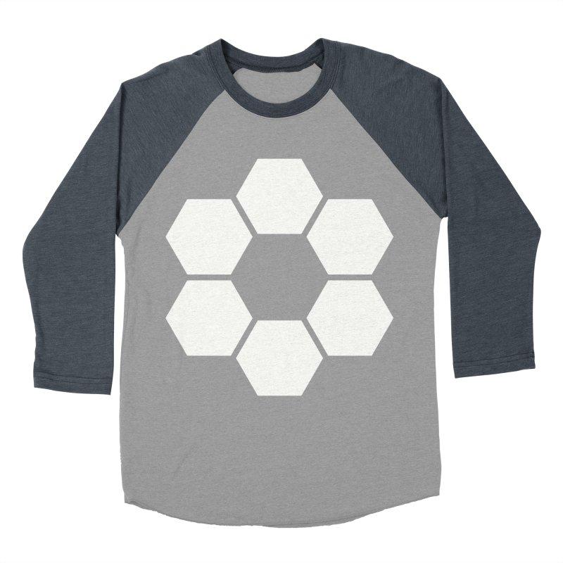 Kamon Solid W Men's Baseball Triblend Longsleeve T-Shirt by Upper Realm Shop