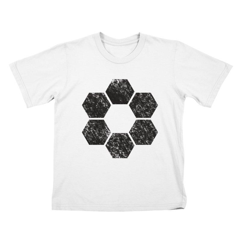 Kamon Lunar  Kids T-Shirt by Upper Realm Shop