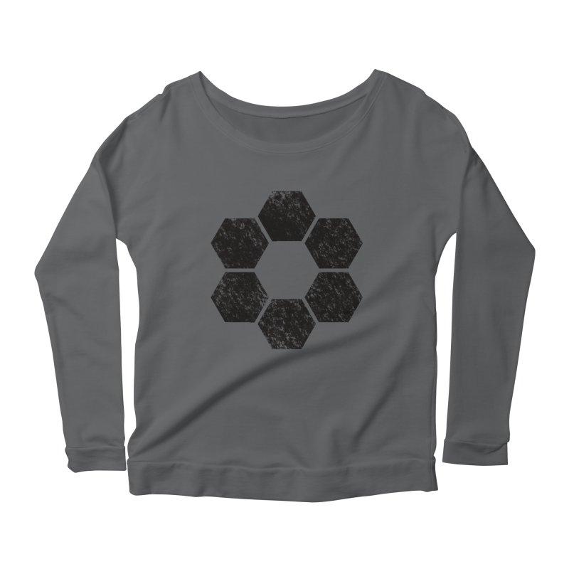 Kamon Lunar  Women's Scoop Neck Longsleeve T-Shirt by Upper Realm Shop