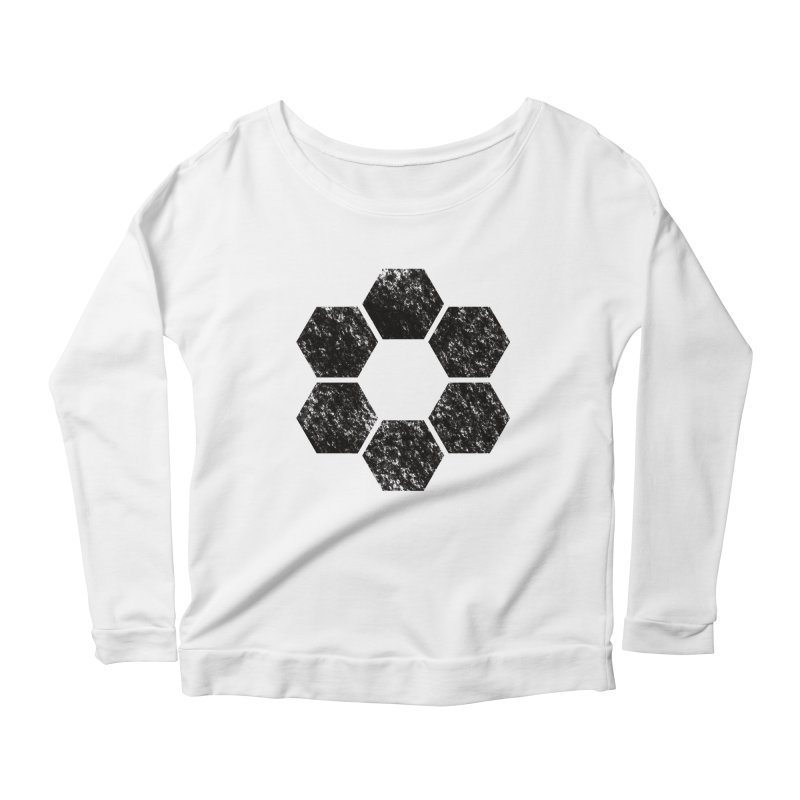 Kamon Lunar  Women's Scoop Neck Longsleeve T-Shirt by Upper Realm Shop