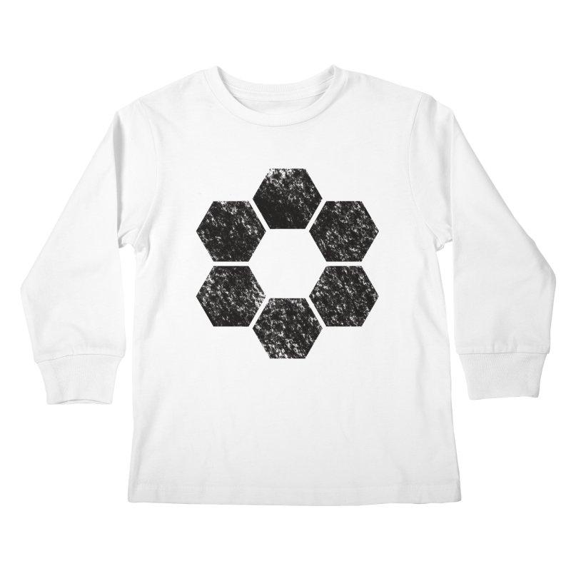 Kamon Lunar  Kids Longsleeve T-Shirt by Upper Realm Shop