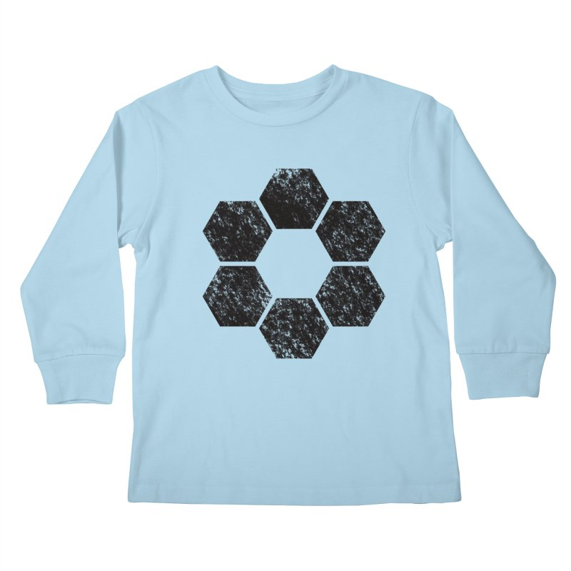 Kamon Lunar  Kids Longsleeve T-Shirt by Upper Realm Shop