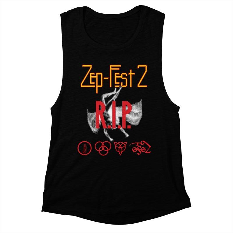 Zep-Fest2 RIP Friends Only Women's Muscle Tank by upso's Artist Shop