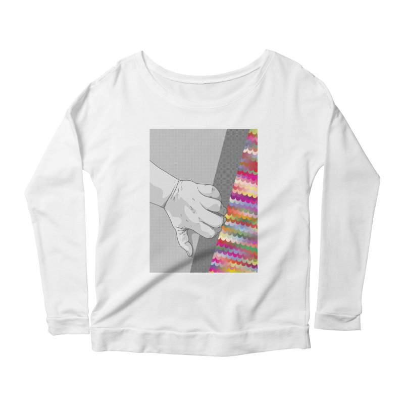 let me out of here Women's Scoop Neck Longsleeve T-Shirt by upso's Artist Shop