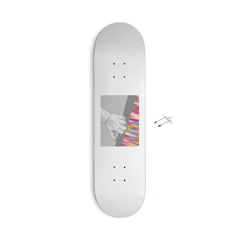 let me out of here Accessories With Hanging Hardware Skateboard by upso's Artist Shop