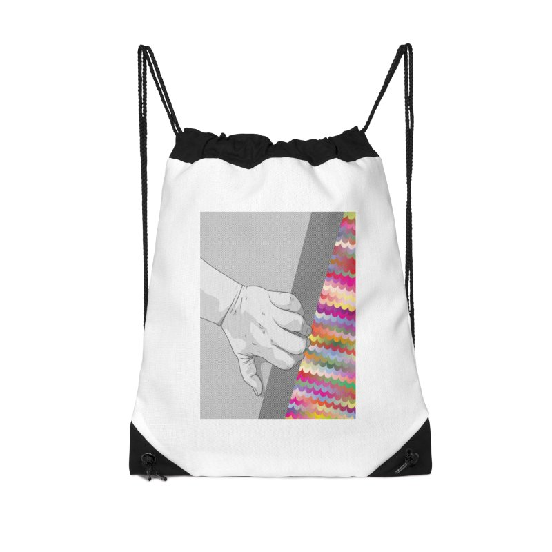 let me out of here Accessories Drawstring Bag Bag by upso's Artist Shop