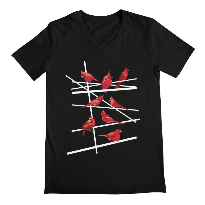 cardinal collection #1 Men's V-Neck by upso's Artist Shop