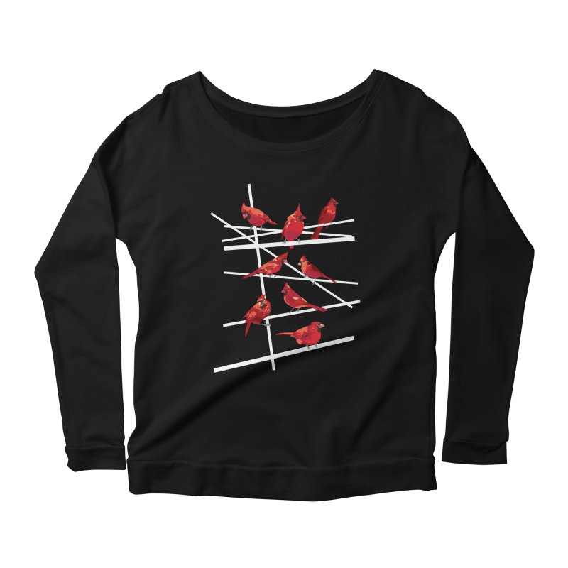 cardinal collection #1 Women's Scoop Neck Longsleeve T-Shirt by upso's Artist Shop