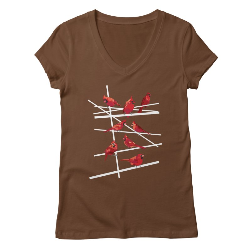 cardinal collection #1 Women's V-Neck by upso's Artist Shop