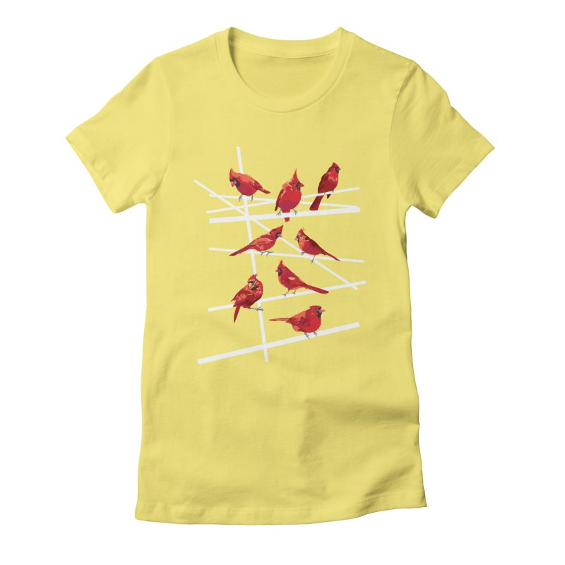 cardinal collection #1 Women's Fitted T-Shirt by upso's Artist Shop