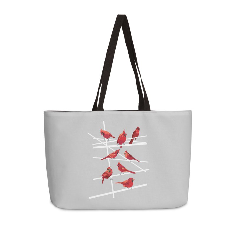 cardinal collection #1 Accessories Weekender Bag Bag by upso's Artist Shop