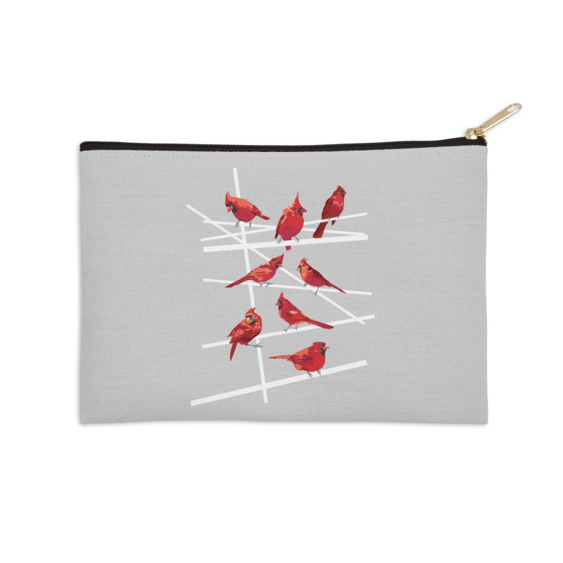 cardinal collection #1 Accessories Zip Pouch by upso's Artist Shop