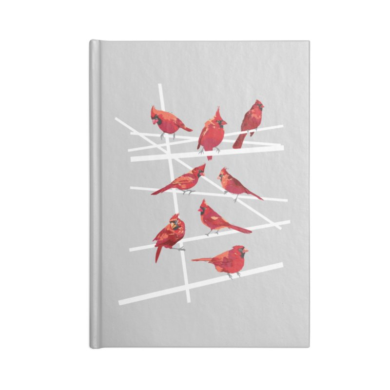 cardinal collection #1 Accessories Lined Journal Notebook by upso's Artist Shop