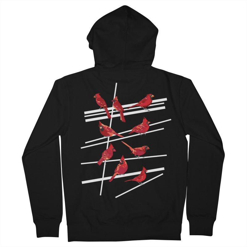 even more cardinals Men's French Terry Zip-Up Hoody by upso's Artist Shop