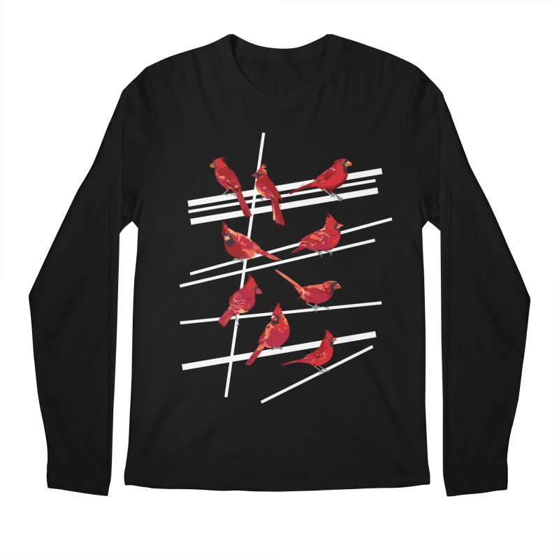even more cardinals Men's Regular Longsleeve T-Shirt by upso's Artist Shop