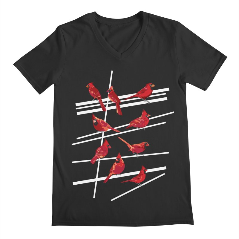 even more cardinals Men's Regular V-Neck by upso's Artist Shop